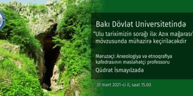 """Elan: """"Ulu tariximizin sorağı ilə: Azıx mağarası"""""""