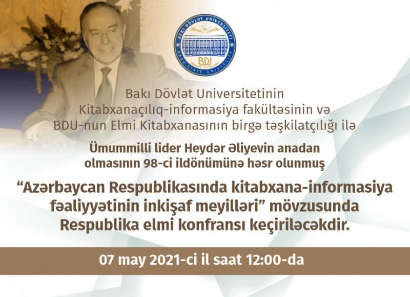 """""""Azərbaycan Respublikasında kitabxana-informasiya fəaliyyətinin inkişaf meyilləri"""""""
