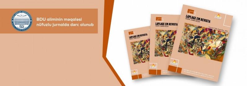 BDU aliminin məqaləsi nüfuzlu jurnalda dərc edildi